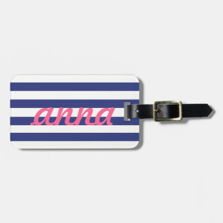 Preppy Luggage Tag