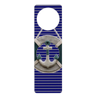 Preppy Nautical Stripes lifesaver beach Anchor Door Hanger
