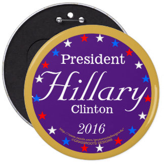 Pres. Hillary Clinton 2016 Purple Passion to Serve 6 Cm Round Badge