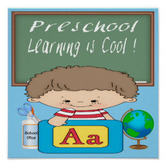 Preschool Boy Learning is Cool Poster/Print Poster