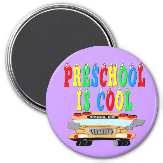 Preschool Cool Bus Refrigerator Magnets