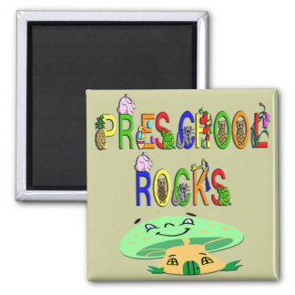 Preschool Rocks Mushroom Fridge Magnets