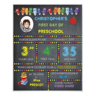 PRESchool Sign Boy,low price,PHOTO,8x10 Photo Art