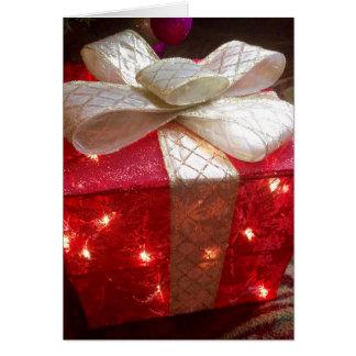 Present Christmas greeting card