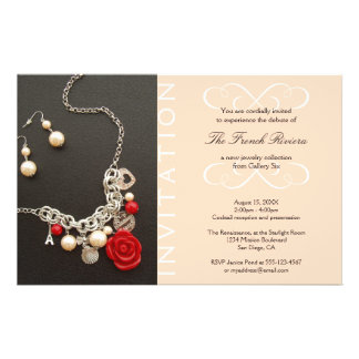 Present new luxury product elegant pink invitation flyer