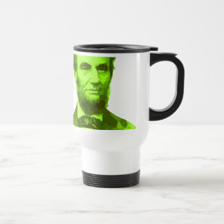 PRESIDENT ABRAHAM LINCOLN GREEN FACE PORTRAITGifts Travel Mug