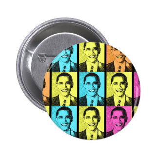 PRESIDENT BARACK OBAMA . 6 CM ROUND BADGE