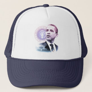 President Barack Obama Portrait Trucker Hat