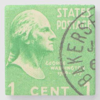 President George Washington Vintage Postage Stamp Stone Coaster