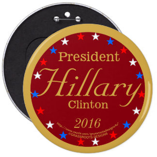 President Hillary Clinton 2016 America Strong Deep 6 Cm Round Badge