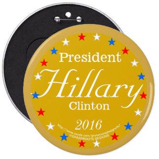 President Hillary Clinton 2016 Gold Medal 6 Cm Round Badge