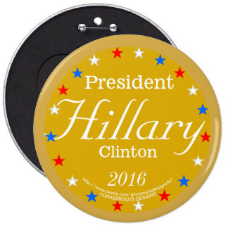President Hillary Clinton 2016 Gold Medal 6 Cm Round Badge