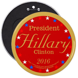 President Hillary Clinton 2016 Hilfire Red Pinback 6 Cm Round Badge