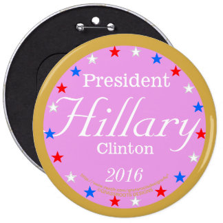 President Hillary Clinton 2016 Historical Journey 6 Cm Round Badge