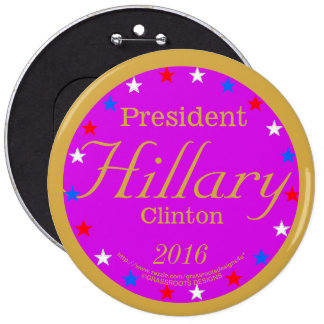 President Hillary Clinton 2016 Hot Pink 6 Cm Round Badge
