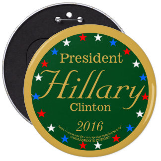 President Hillary Clinton 2016 Party Green 6 Cm Round Badge