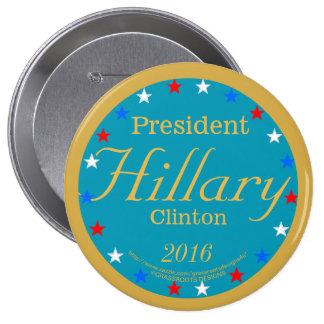 President Hillary Clinton 2016 Take Action Blue 10 Cm Round Badge