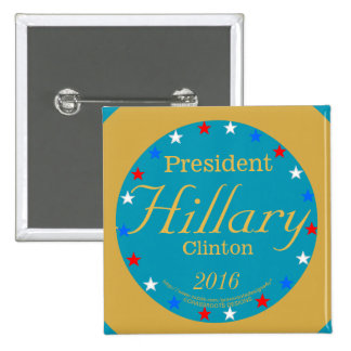 President Hillary Clinton 2016 Take Action Blue 15 Cm Square Badge