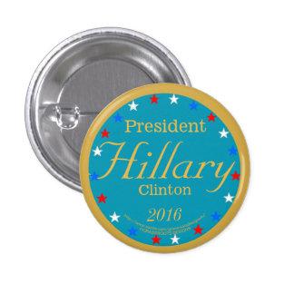 President Hillary Clinton 2016 Take Action Blue 3 Cm Round Badge