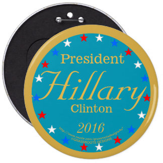 President Hillary Clinton 2016 Take Action Blue 6 Cm Round Badge