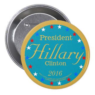 President Hillary Clinton 2016 Take Action Blue 7.5 Cm Round Badge