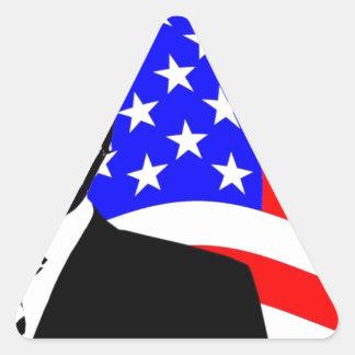 President Obama Attire Triangle Sticker