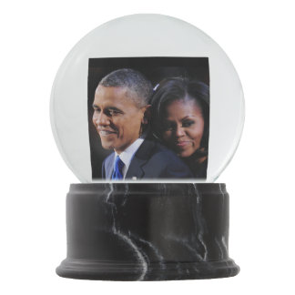 President Obama & First Lady Michelle Snow Globes
