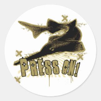 Press On Classic Round Sticker