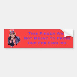 Press One For English Bumper Sticker