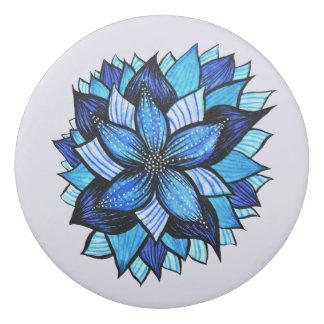 Pretty Abstract Blue Mandala Like Flower Drawing Eraser