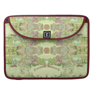Pretty Abstract in Yellow, Lime, and Pink Sleeve For MacBooks