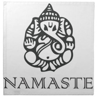 Pretty B/W Ganesh Design Napkin