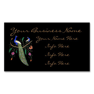 Pretty Birds And Flowers Magnetic Business Cards