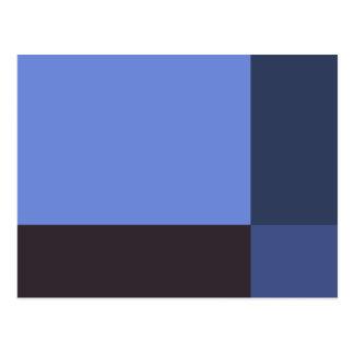 Pretty Blue Blocks Postcard