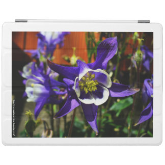 Pretty Blue Columbine Flower iPad Cover