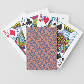 Pretty Blue Cottage Garden Flowers Playing Cards