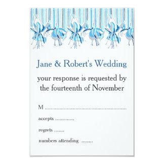 Pretty Blue Flowers Wedding Stationery Card