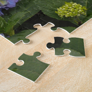 Pretty Blue-White Hydrangeas Jigsaw Puzzle