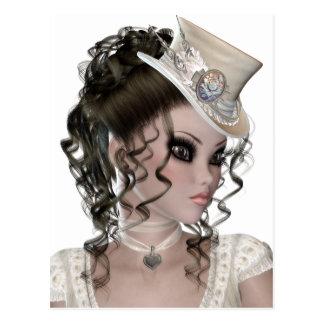 Pretty Brunette Woman Postcard