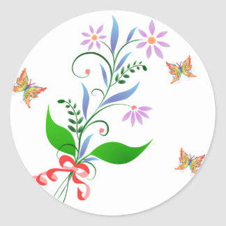 Pretty Bunch of Flowers and Butterflies Stickers