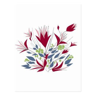 Pretty Bunch Of flowers Postcard
