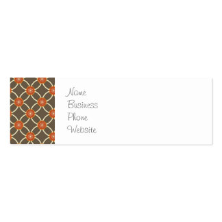 Pretty Burnt Orange and Brown Fall Pattern Gifts Business Card