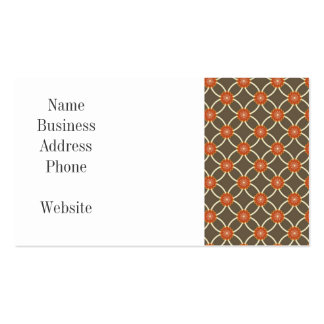 Pretty Burnt Orange and Brown Fall Pattern Gifts Business Card Template