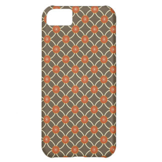 Pretty Burnt Orange and Brown Fall Pattern Gifts iPhone 5C Case