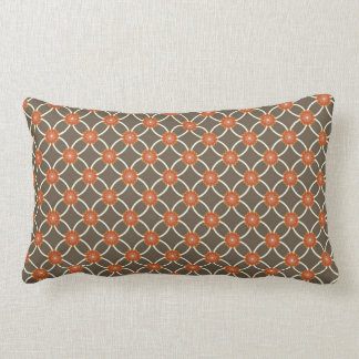 Pretty Burnt Orange and Brown Fall Pattern Gifts Pillows