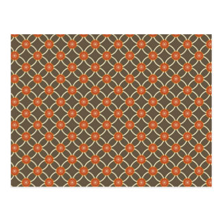 Pretty Burnt Orange and Brown Fall Pattern Gifts Postcard