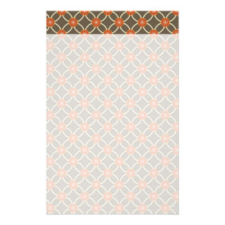 Pretty Burnt Orange and Brown Fall Pattern Gifts Customized Stationery