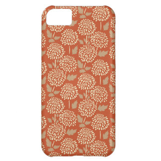 Pretty Burnt Orange Floral Pattern Gifts for Her iPhone 5C Case