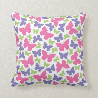 Pretty Butterfly Girl's Room Decor Throw Pillow