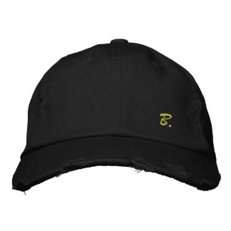 """Pretty Cap in Consumed Sarja Embroidered Letter """"B Embroidered Baseball Caps"""